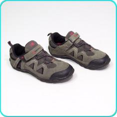 DE FIRMA → Pantofi sport, comozi, aerisiti, piele, KARRIMOR → baieti | nr. 34 - Pantofi copii Karrimor, Culoare: Gri, Piele intoarsa