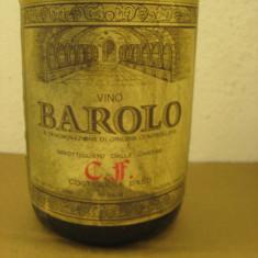 Vin vechi de colectie BAROLO, doc, CF, recoltare 1971, cl 72 gr 13, 5 - Vinde Colectie, Aroma: Sec, Sortiment: Rosu, Zona: Europa