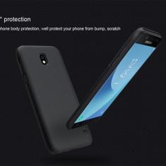 Husa Samsung Galaxy J7 2017 Super Frosted neagra by Nillkin - Husa Telefon Samsung, Negru, Plastic, Fara snur, Carcasa