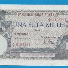 100000 lei 1947 8 Mai 4 XF - Bancnota romaneasca