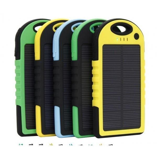 PowerBank / Baterie Externa Solara Forever PB016 cu 2 iesiri USB, 3.1A - 5000 mAh foto mare