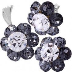 Bijuterii cu cristale Chaton Flower 7 surub - Set Swarovski