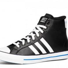 Adidas Womens VLNEO 3 Stripes MID AHQ38695, 40 2/3, Negru