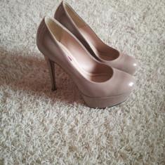 Pantofi Why Denis - Pantof dama, Culoare: Bej, Marime: 38, Cu toc