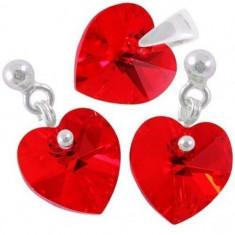 Bijuterii swarovski Heart p 10/10 BallPin - Set bijuterii placate cu aur