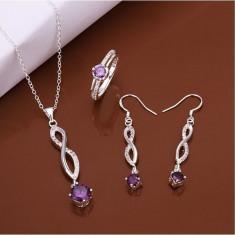 Cercei, colier si inel Carmina - Set bijuterii handmade si fashion