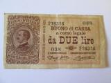 Rara! Italia 2 Lire 1914,emisiune de 75000 bucati