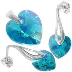 Heart p 10/14 Color AB PittPin - Set bijuterii placate cu aur