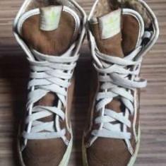 Adidas originali, piele naturala, high top, imblaniti, nr.37, 5-24 cm. - Adidasi dama, Culoare: Maro