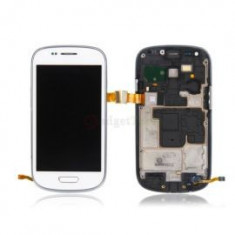 Display Samsung S3 mini alb i8190 touchscreen lcd rama