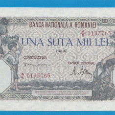 100000 lei 1947 8 Mai 6 XF - Bancnota romaneasca