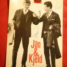 Ilustrata Jan & Kjeld - Banjo-Boys Germania anii '60 ,cu autografe