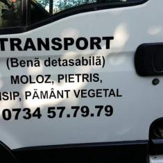 Transport cu bena detasabila, moloz, nisip, pamant vegetal - Utilitare auto PilotOn