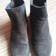 Ghete H & M, piele naturala, made in Portugal, nr.41-26 cm. - Ghete barbati H&m, Culoare: Maro, Piele intoarsa