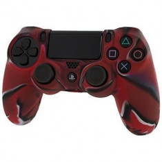 Pro Soft Silicone Protective Cover With Ribbed Handle Grip Camo Red Ps4 - Consola PlayStation