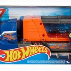 Jucarie Hot Wheels City Crashin' Big Rig Transporteur Super Crash Blue Truck Mattel