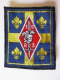 Emblema textila(73 x 60 mm) cercetasi armata franceza