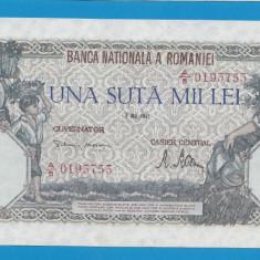 100000 lei 1947 8 Mai 2 aUNC - Bancnota romaneasca