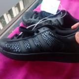 Adidas Superstar Negri Piele - Adidasi dama, Culoare: Negru, Marime: 42