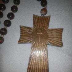 Cruce din lemn cu matanii-rozarii lemn-lungime 1, 25 metri