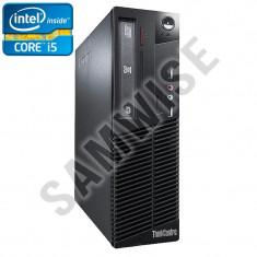 Calculator Lenovo M72E SFF, Intel Core i5 2500 3.3GHz (up to 3.7GHz), 4GB DDR3, 320GB, Video HD Graphics, DVI VGA, DVD-RW - Sisteme desktop fara monitor