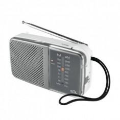 Radio de buzunar, orizontal, AM/FM, 2 x 1.5V, mufa casti, Sal RPC 2 BX - Ceas de perete