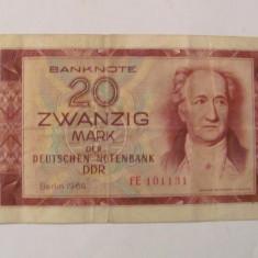 CY - 20 mark marci 1964 RDG DDR Germania - bancnota europa