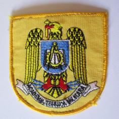 Emblema textila(73 x 70 mm) Academia Tehnica Militara