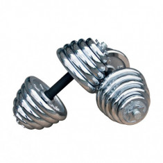 Set doua gantere cromate cu discuri detasabile 2x20Kg, 40 kg