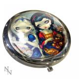 Oglindă de poșetă Alice în țara minunilor și Albă ca zăpada