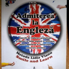 Lidia Vianu - Admiterea la engleza - Carte in engleza