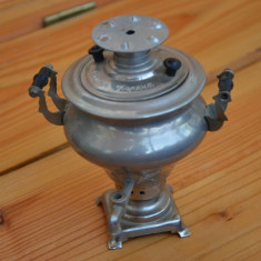Samovar vechi Rusia cu marcaje / Samovar miniatura / Samovar colectie - Metal/Fonta