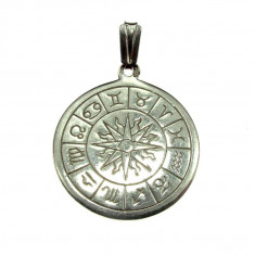 Pandantiv din argint Zodiac model unicat - Pandantiv argint