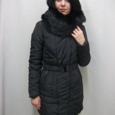 Jacheta casual, neagra cu blanita detasabila (Culoare: NEGRU, Marime: M-38) - Jacheta dama
