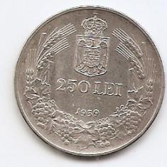 Romania 250 Lei 1939 – Carol II, Argint 12g/835, MV1-26, 30 mm KM-57 - Moneda Romania