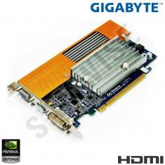 Placa video Gigabyte nVidia GeForce 8400GS 512MB (TurboCache to 1GB) DDR2 64-Bit, DVI, VGA, HDMI