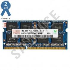 Memorie 4GB Hynix DDR3 1333MHz SODIMM 2RX8 - Memorie RAM laptop