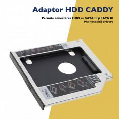 Adaptor Universal HDD/SDD Caddy 12.7 mm SATA Slim - Rack Unitate Optica