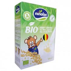 Cereale Bio Pentru Copii Cu Orez, Mei Si Quinoa, Ninolac, 4 Luni+, 250G foto