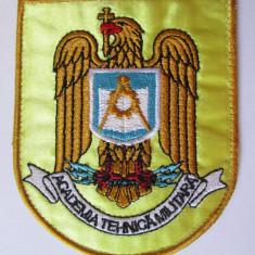 Emblema textila(93 x 77 mm) Academia Tehnica Militara