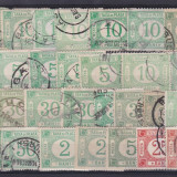 ROMANIA 1895/99, LOT TAXA DE PLATA MARCI DE FACTAJ STAMPILAT - Timbre Romania
