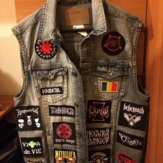 Vestă de blugi cu patchuri brodate - Muzica Rock, Alte tipuri suport muzica