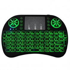 Mini Tastatura Iluminata (3 culori) Wireless cu Touchpad
