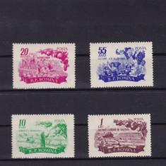 ROMANIA 1955  LP 396    POMICULTURA  SI  LEGUMICULTURA  SERIE  MNH