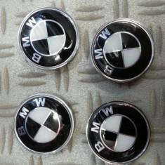 CAPACE JANTA BMW ALB CU NEGRU LA SET DE 4 BUC - Embleme auto, 5 (E60) - [2003 - 2013]