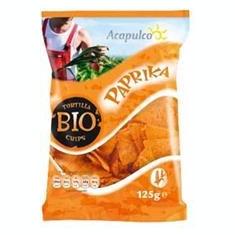 Tortilla Bio Chips cu Boia Acapulco Rapunzel 125gr Cod: 652959 - Snack