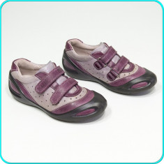 DE FIRMA → Pantofi din piele, usori, aerisiti, practici, ECCO → fete | nr. 35 - Pantofi copii Ecco, Culoare: Mov, Piele naturala