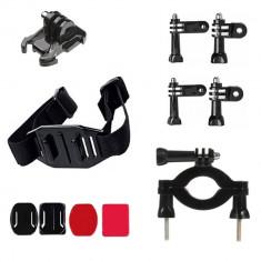 Kit 11 in 1 accesorii pentru camere sport - Kit biela Moto