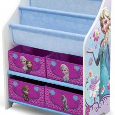 Organizator carti si jucarii cu cadru din lemn Disney Frozen - Set mobila copii