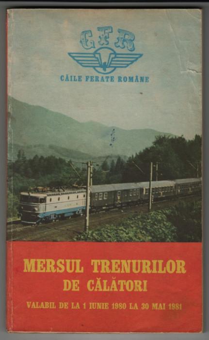 Mersul trenurilor 1 iunie 1980 - 30 mai 1981 foto mare
